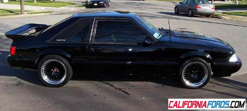 Black rims on black foxbody ford mustang forums corral net mustang forum